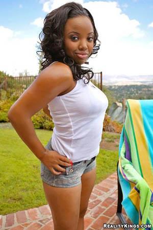 Ebony star aryana starr in black toe jam - 1 4